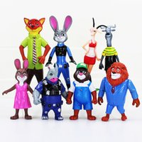 Cheap Prettybaby Zootopia action figure Best 8 pcs set PVC toys