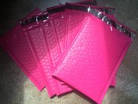 achat en gros de enveloppes mailer gros-Gros- [PB # 47 +] - Rose 4.5X7inch / 114X178MM Surface utile Poly bulle enveloppes Mailer rembourrées Mailing Bag Self Sealing [100pcs]