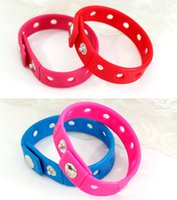 Wholesale Cute silicone bracelet Jelly Metal button snaps adjustable bangle cuff cm band children jewelry birthday gift