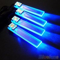 Wholesale 4 In V Blue Car Decorative Atmosphere Lamp Charge LED Interior Floor Decoration Lights TY2