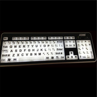 backlit printing - USB Large Print backlight Keyboard Backlit white LED Illuminated big fonts Keyboard white light low vision computer keyboard