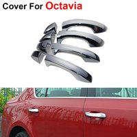 Wholesale 4pcs Newest Decoration Car Styling Cover ABS Door Handle For Skoda Octavia Accessories Fashion Stickers
