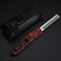 aluminum outs - Deluxe Microtech automatic Scarab comb Aluminum Handle Super light Good funtion double action Out TF comb