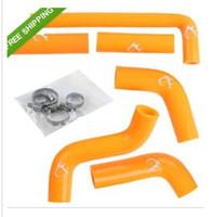 Wholesale KTM EXC Silicone Orange Radiator Hose Kit