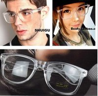 Wholesale fashion rivet clear frame unisex reading glasses