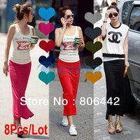 Wholesale Fashion Sexy Korea Women Over Hip Back Vent Solid Color Straight Long Maxi Skirt Colors