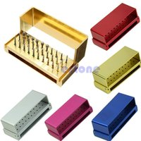 Wholesale Holes Dental Bur Burs Holder Block Autoclave Disinfection Aluminum Sterilizer