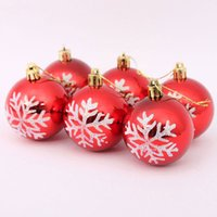 christmas crafts - 2015 Christmas tree decorations ornaments cm plating snowflakes plastic balls Christmas decoration craft supplies for home