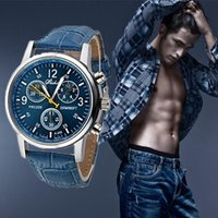 Wholesale 2015 Fashion Leather Strap watches Men Casual watch Men Business wristwatches Sports Military quartz watch Relogio Masculino