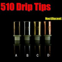 Wholesale Best Noctilucent Drip Tips Electroplating Airflow Control Straight Mouth Piece With VIP Logo Fit Tugboat Atomizer FJ406
