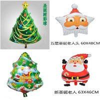 aluminum christmas tree - Set Christmas aluminum balloon christmas tree decoration balloon supplies Christmas series