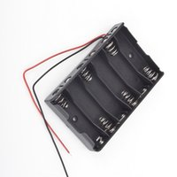 Cheap Hot! 1pc 6 x 1.5V AA 2A CELL Battery Batteries Holder Storage Box 9V Case With Lead Wire High Quality