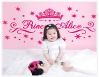 alice plane - princess alice Crown fashional Wall Decals for girl s Living Room Stickers wall stickers home decor