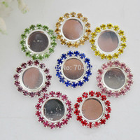 Wholesale 16mm mm rhinestone button setting can choose styles Freeshipping PJB31