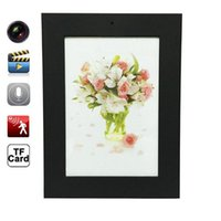 Wholesale HD P Black Photo Frame Mini DVR Audio Video Camera Recorder Hidden Camcorder