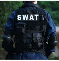 army security - Fall Men SWAT FBI Security Protective CS Vest Outdoor Military Black Army Tactical Training black Vest Waistcoat Men