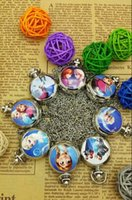 Wholesale FROZEN ELSA ANNA Sisters New Working Pocket Watch Necklace