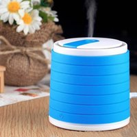 Wholesale USB Blue Mini Ultrasonic Air Purifier Humidifier Diffuser Cylindrical Portable
