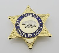 Wholesale Losangeles County Bureau of Changzhi an officer insignia badge blank Sheriff Brown