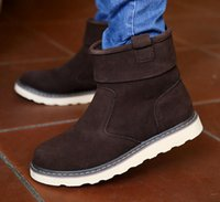 Wholesale New hot selling Fashion Boot men snow boots High Tops buskin Tide Martin boots men keep warm leather shoes
