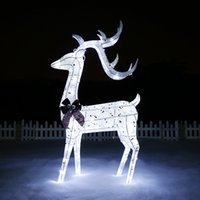 animated reindeer - Animated PC Lighted Reindeer Deer Family Christmas Yard Decoration Lights New
