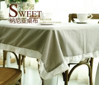 Wholesale Miz Home Narnia Series Piece Dining Rectangle Table Cover Cotton Table Cloth x180cm