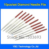 Cheap Free Shipping 10pcs set 4*160mm Needle Files Jewelers Diamond Wood Carving Craft Tool Metal Glass Stone