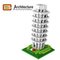 architecture italy - LOZ Architecture Leaning Tower of Pisa D Building Blocks Italy Architecture Model Leaning Tower of Pisa Educational Gift Toy Children