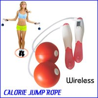 Wholesale 2pcs Electronic Wireless CALORIE Jump Rope Counter Timer LCD Dual use Losing Weight Rope Health Care