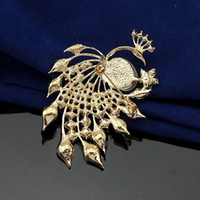 amber peacock - Free postage new Korean fashion retro cute diamond opal glaze peacock brooch pin factory direct selling