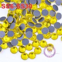 Wholesale 1440pcs bag High Quality Glass Material Flatback Heat Transfer Citrine DMC Hotfix Crystals Rhinestone Garment Decoratives