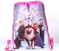 Wholesale 2014 hot drawstring bags kids backpacks handbags children school bags kids shopping bags present frozen backpack