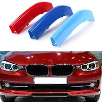 abs motorsport - 3 Colors ABS D Molding M Car Styling Front Grille Trim Strips Cover Motorsport Power Performance Stickers For BMW X4