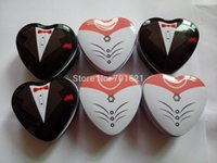 Cheap Hot Bride groom Mint tin wedding favor box 200PCS LOT dressed to the nines wedding candy box free shipping