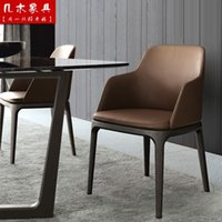 aluminum hotel furniture - IKEA fashion furniture solid wood dining chair Upscale hotel dining chair back armchair Grace chair type and multicolor