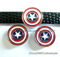 america pet - 10pcs mm Captain America Slide charms SL244 Fit DIY Name Bracelets Necklace Name Pet collar Key chain Fhone strips Fit mm wide belt