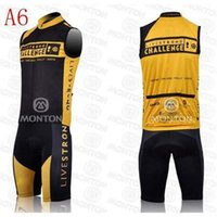 livestrong - 2015 new model livestrong cycling jerseys challenge yellow and black sleeveless bib cycling clothing good quality bicycling jerseys