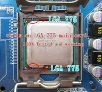 Wholesale Intel Xeon E5462 Processor GHz M MHz close to Core Quad Q9550 CPU works on LGA775 mainboard no need adapter