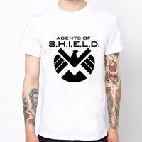 agent orange shirt - America Captain Marvel Agents Of Shield Eagle Logo T shirts Cotton Hip Hop Gym T Shirts Men Summer Camisetas Original Shirts