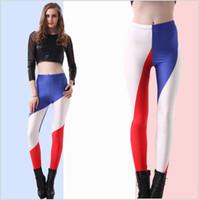 color pantyhose - 2015 Women color national flag Harry potter grid stripe tights printed galaxy thin pants galaxy Digital pantyhose leggings TOPB2652