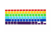 Wholesale New Rainbow Colors Keyboard Protector Cover Skin Crystal For MacBook Pro Air Retina inch Waterproof Dustproof US Version Sample