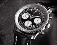 Wholesale Hot Sale Swiss Brand Watches Chronometre Mechanical Automatic NAVITIMER Watch Mens Cassic Wristwatch Black Dial Leather Strap BL01