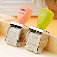 Wholesale 2 crown roller stamp diy stamps for scrapbooking kawaii stationery zakka decal material escolar school supplies