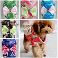 Wholesale AAAA quality new Teddy Poodle Clothes Teddy kimono brocade chothes dog hoodie Pet dog clothes LJJD374