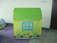 Cheap kids outdoor beach tent child play tent Baby Indoor Toy Play Game House 100*75*95cm with two rooms