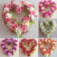 Wholesale x New Arrival Artificial Flower Heart shaped Wreath Wedding Festival Bridal Decor Gift