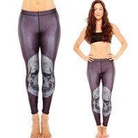Precio de Polainas de la impresión de poliéster-Las mujeres atractivo 3D de impresión espesar pantalones de las polainas de la cintura elástico de alta yoga de la gimnasia Calzoncillos Polyester aptitud