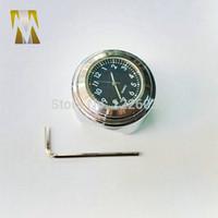 Wholesale Universal mm To mm Motorcycle Handlebar Bar Mount Clock Grip Watch for Cruiser suzuki honda handle watch