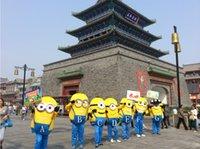 Prezzo più basso&Alta qualità Cattivissimo Me Minion Mascot Costume Minion Festa di Halloween Vestito Spedizione Gratuita