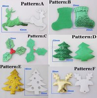 Wholesale PA0040 Christmas Festival decorative accessories mix patterns stick on patch for craft scrapbook applique stuff